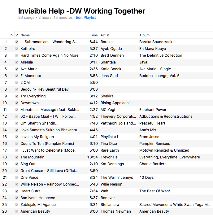 INVISIBLE HELP -DW WORKING TOGETHER
