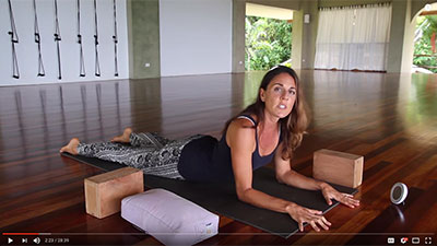 Yin Yoga at Pavones Yoga Center with Indira Kate Kalmbach