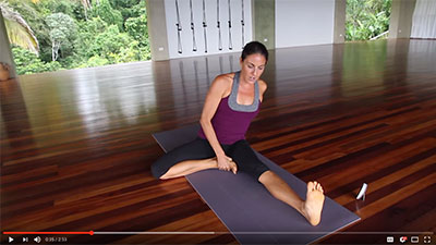 Janu Sirsasana: Refining One-legged Seated Head to Knee Pose at Pavones Yoga Center