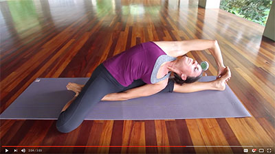 Open The Gall Bladder Line In This Twisting Side Opening Yoga Pose